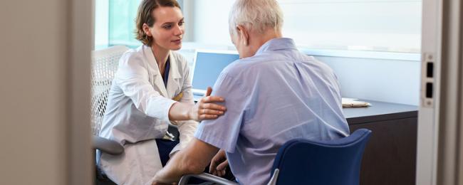 Man receiving medical misdiagnosis
